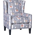 Mayo 1421 Chair - Item Number: 1421F40-Llama Drama Slate