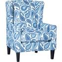 Mayo 1421 Chair - Item Number: 1421F40-Wynette Denim