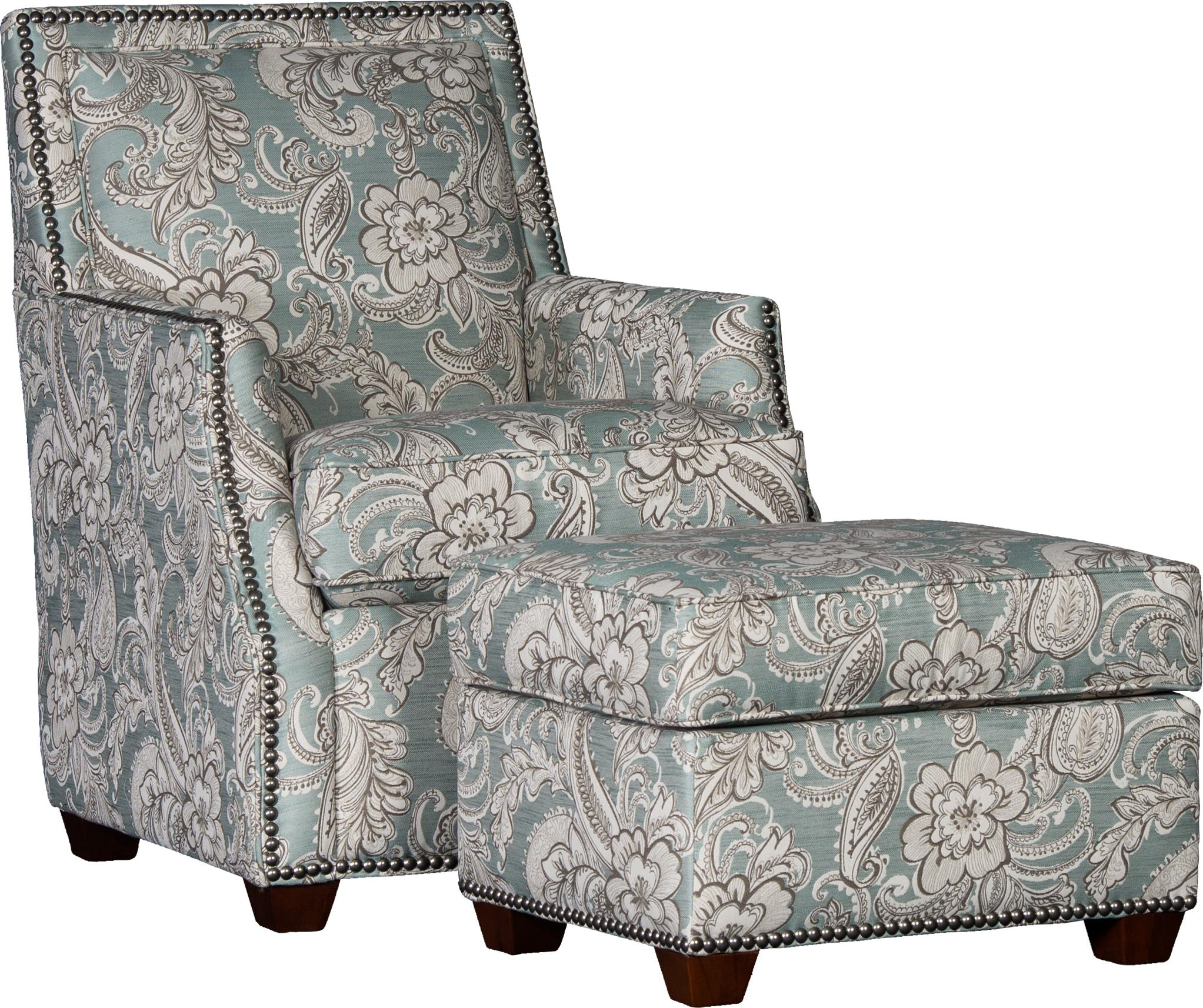 2325 Chair & Ottoman Set by Mayo at Wilson's Furniture