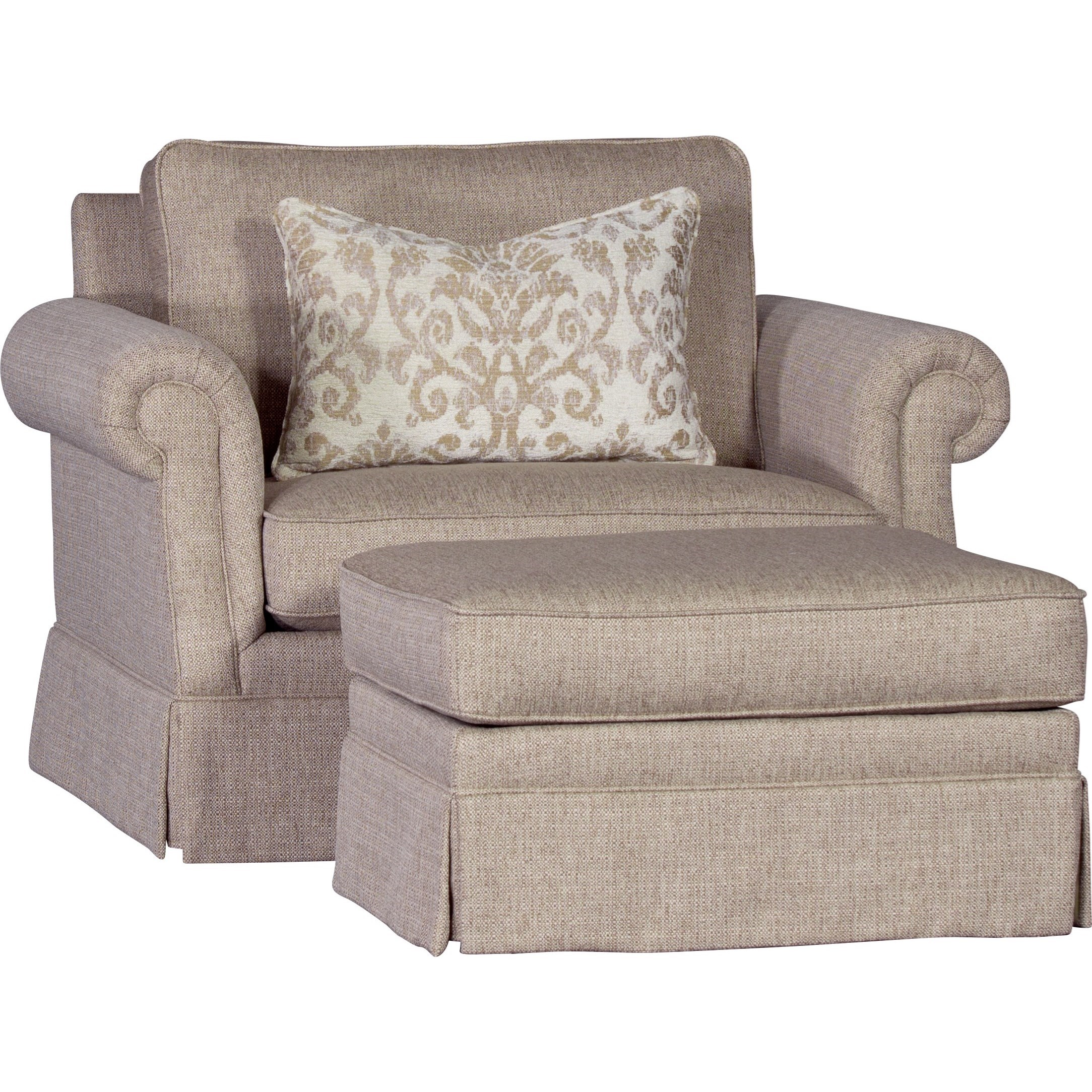 2600 Chair and Ottoman by Mayo at Wilson's Furniture