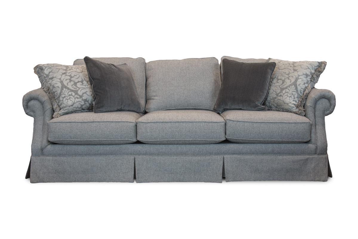 Mayo Smoke Smoke Skirted Sofa - Item Number: MAYO-2600F10 DUKE-SMOKE OVP