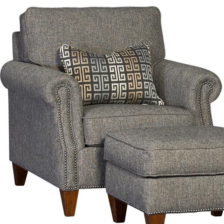3311 Transitional Chair by Mayo at Wilcox Furniture