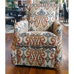 Mayo Runaround Beige Accent Swivel Chair in Sandoa Desert