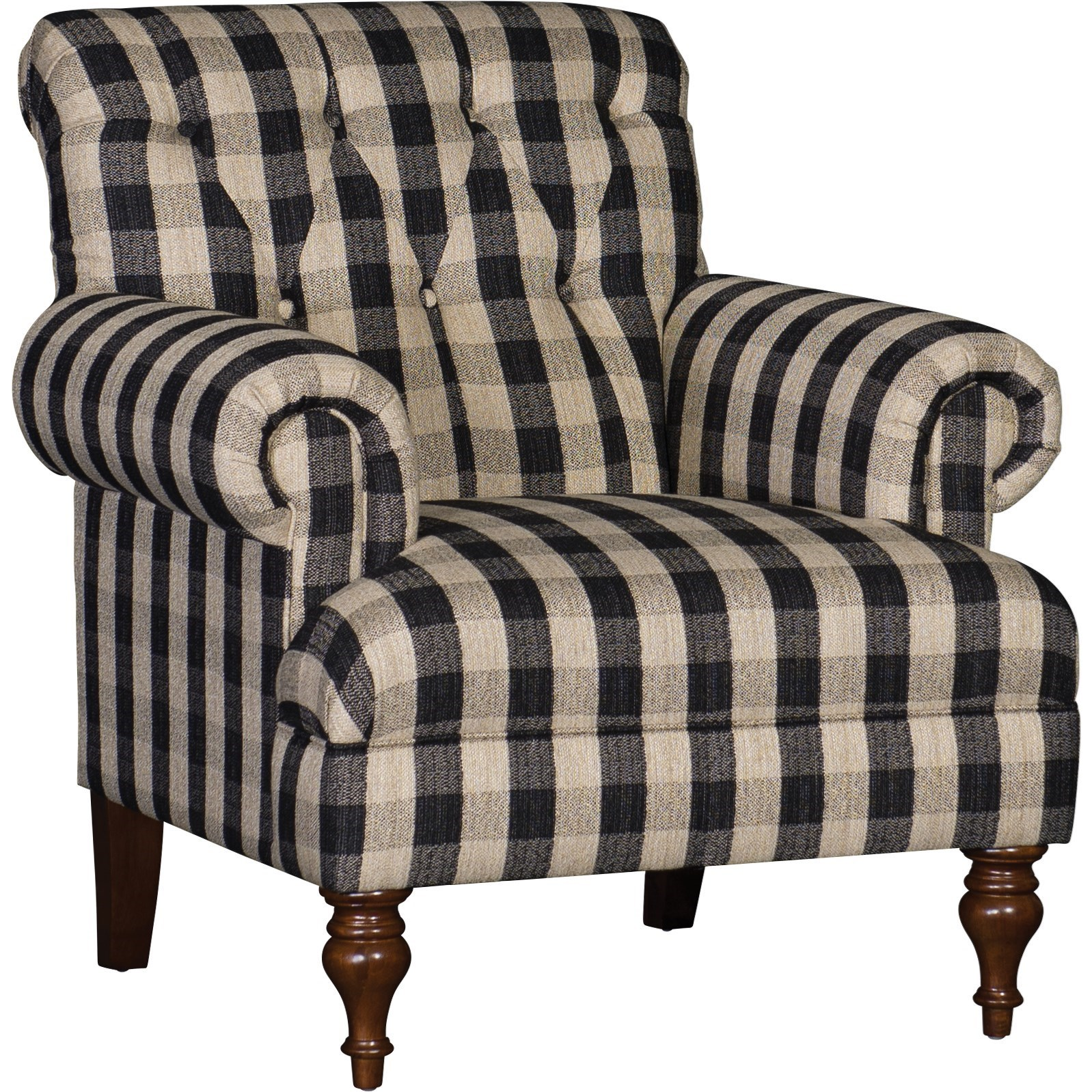 3419 Tufted Back Chair by Mayo at Wilcox Furniture