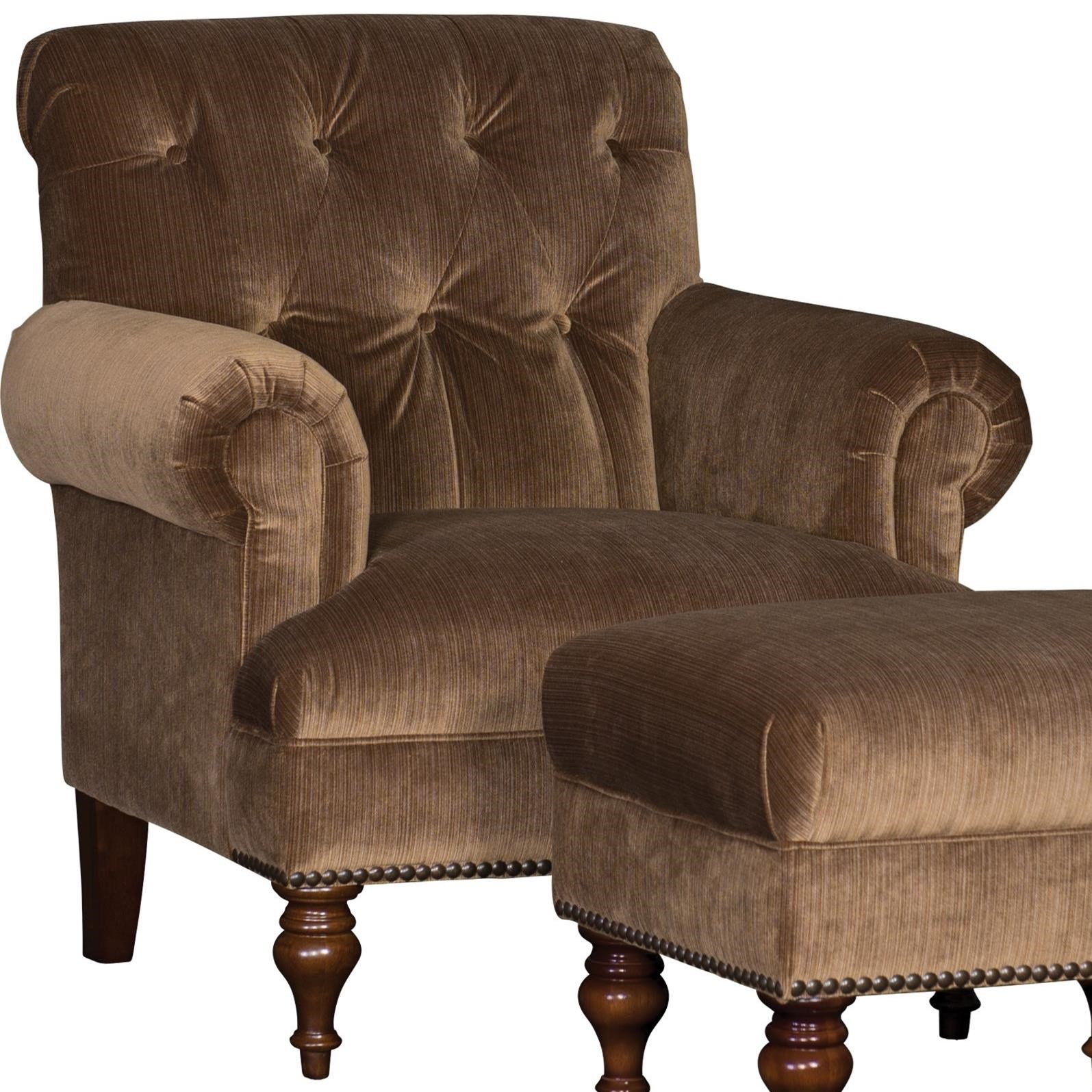 Mayo 3419 Tufted Back Chair - Item Number: 3419F40-STRICH