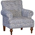 Mayo 3419 Tufted Back Chair - Item Number: 3419F40-TRELIN