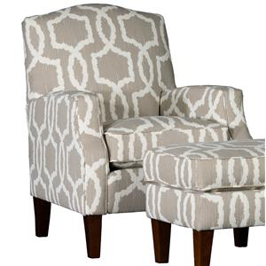Mayo 3725 Upholstered Camel Back Chair