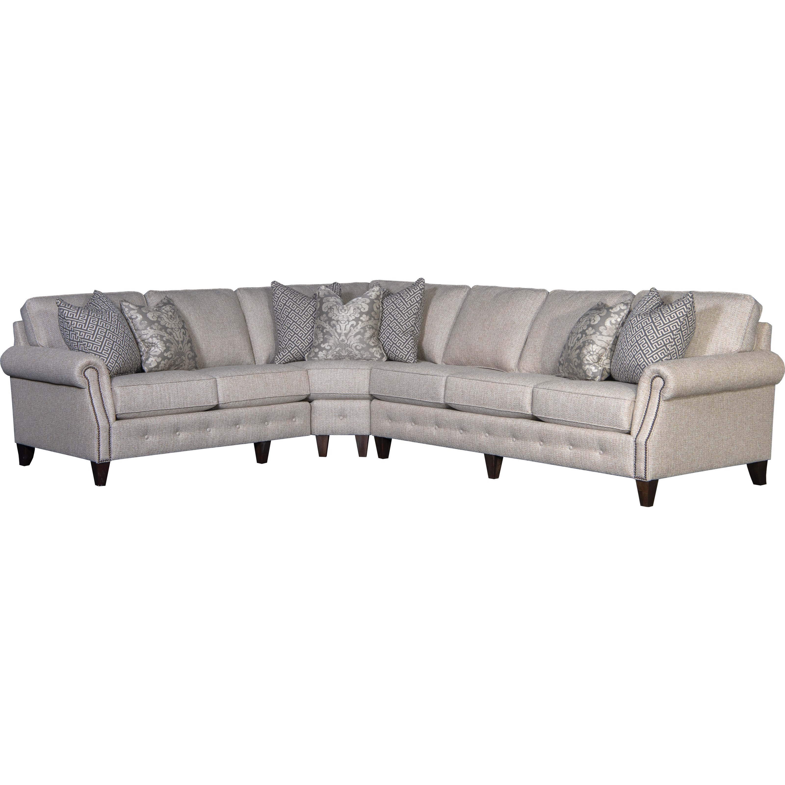 4040 5-Seat Sectional Sofa w/ RAF Sofa by Mayo at Wilcox Furniture
