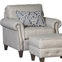 Mayo 4040 Transitional Chair - Item Number: 4040F40-Runaround-Stone