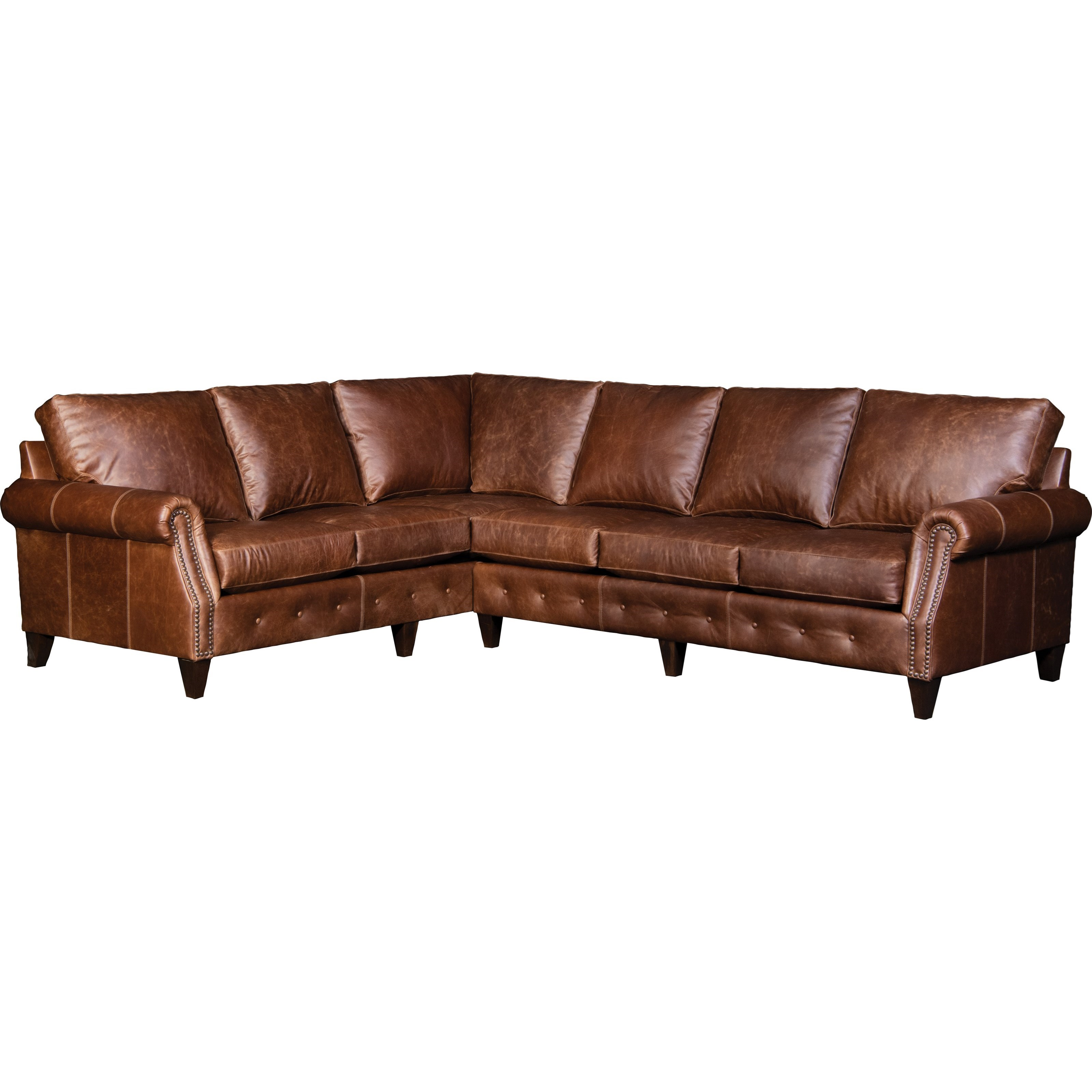 4040 5-Seat Sectional Sofa w/ RAF Sofa by Mayo at Wilson's Furniture