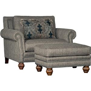 Mayo 4300 Mayo Traditional Chair and Ottoman Set
