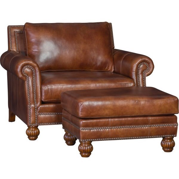 4300 Mayo Traditional Chair and Ottoman Set by Mayo at Wilcox Furniture