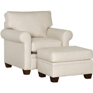 Mayo 5640 Transitional Chair and Ottoman Set