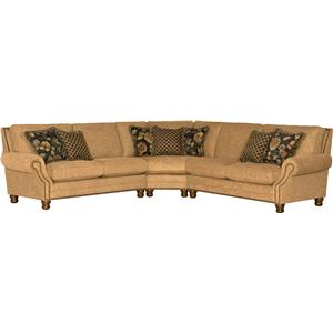 Mayo 5790 Traditional 3 Piece Sectional Sofa