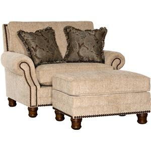 Mayo 5790 Traditional Chair and Ottoman Set