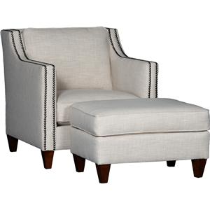 6170 Contemporary Chair & Ottoman Set by Mayo