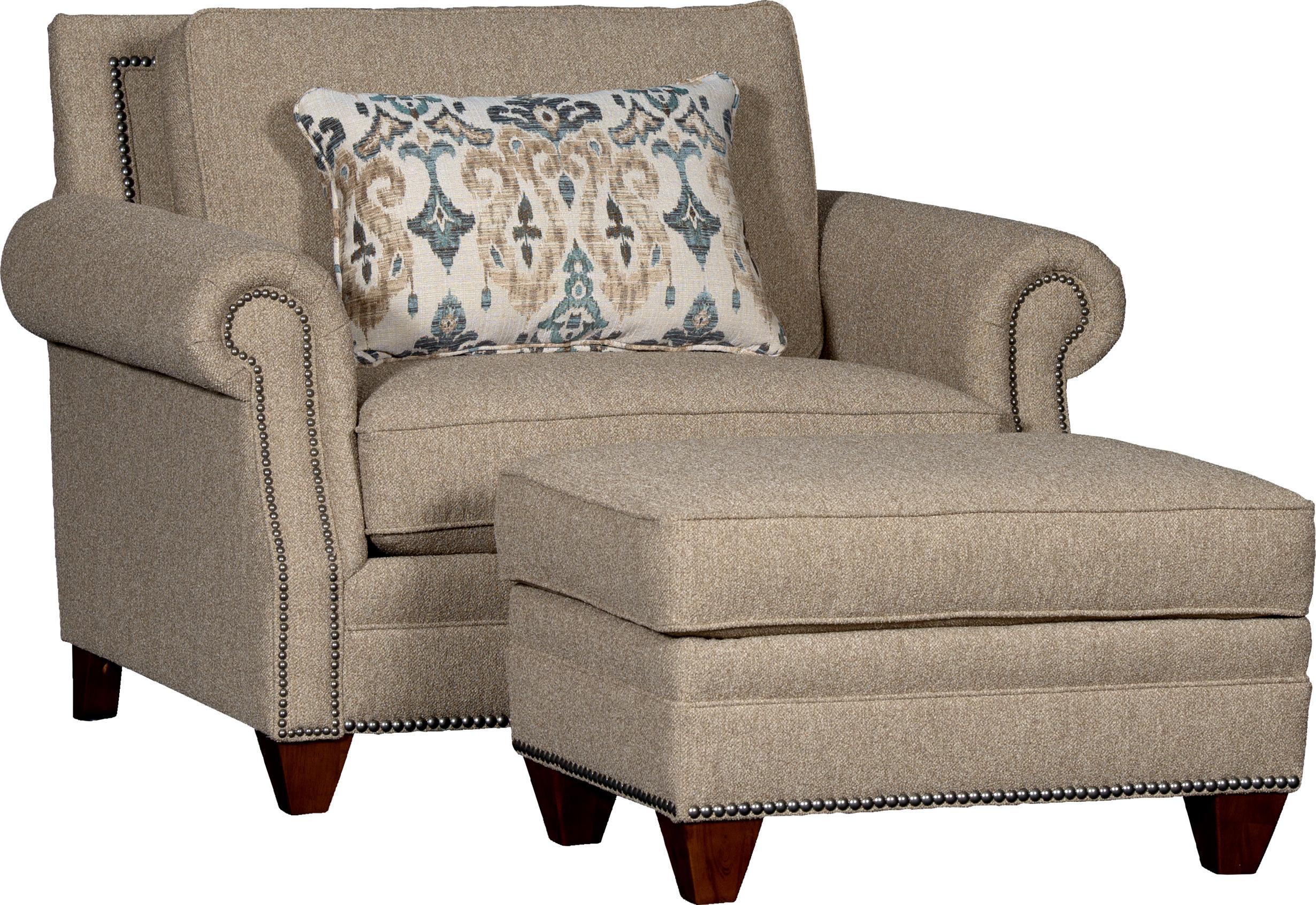 7240 Chair & Ottoman Set by Mayo at Pedigo Furniture