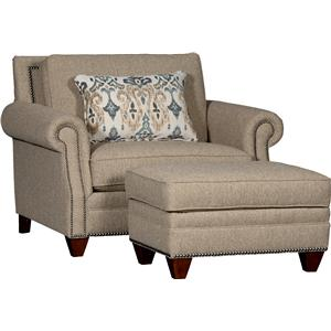 7240 Rolled Arm Chair & Ottoman Set by Mayo