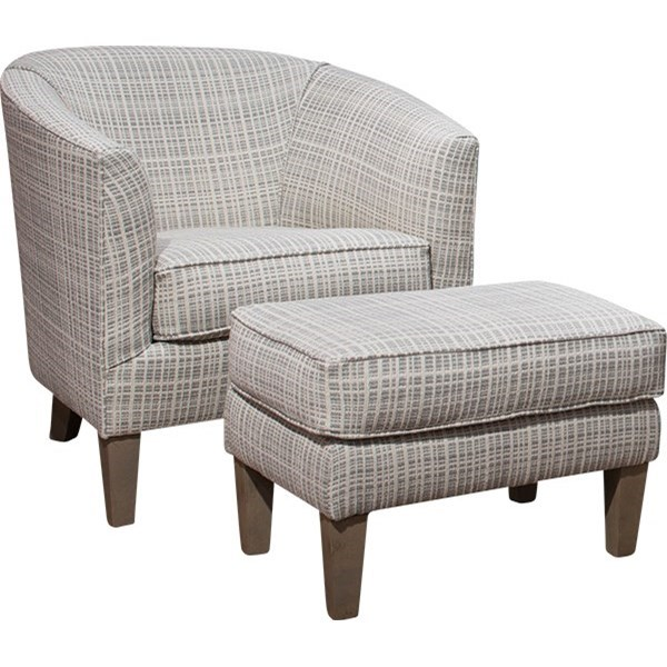 8080 Chair and Ottoman by Mayo at Wilcox Furniture