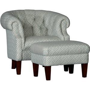 Tub Chair & Ottoman Set