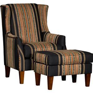 8840 Wing Chair & Ottoman Set by Mayo