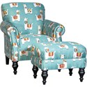 Mayo 8960 Chair & Ottoman Set - Item Number: 8960F40+F50-LLAMAQ