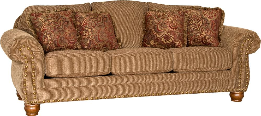 Mayo 3180 Lone Wolf Sofa - Item Number: 3180 SOFA BRASS NAILS