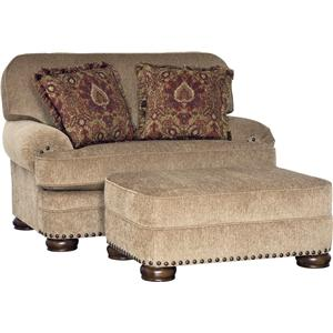 Mayo 3620 Traditional Chair and Ottoman Set