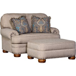 Traditional Chair and Ottoman Set