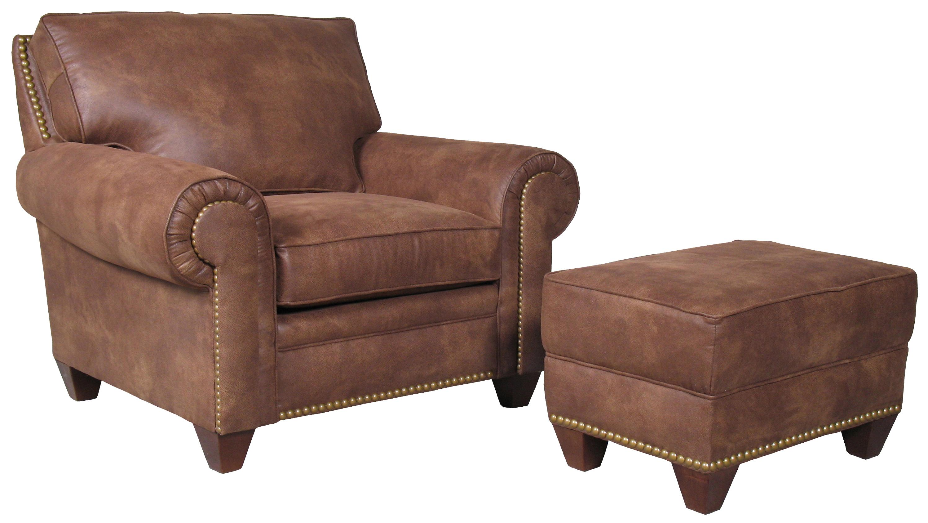 Mayo 2840 Chair and Ottoman - Item Number: 2840-040+050