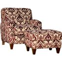 Mayo 8200 Contemporary Ottoman with Tapered Legs - Shown with Matching Chair