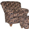 Mayo 8850 Upholstered Chair with Tufted Back - Shown in Alternate Fabric