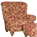 Mayo 9310 Traditional Upholstered Chair with Tufted Back - Shown in Alternate Fabric