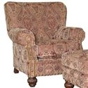 Mayo 9730 Traditional Upholstered Chair with Fluted Spool Legs - Shown in Alternate Fabric