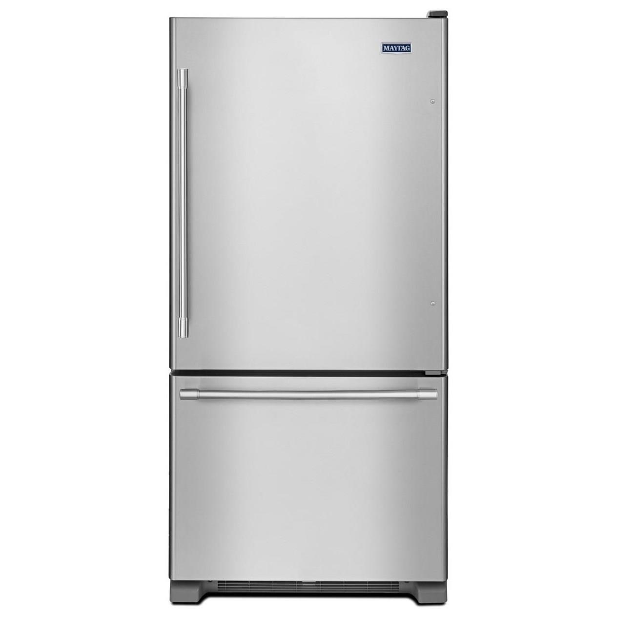 Maytag Bottom Freezer Refrigerators - Maytag 33-Inch 22 Cu. Ft. Bottom Mount Refrigerator - Item Number: MBF2258FEZ