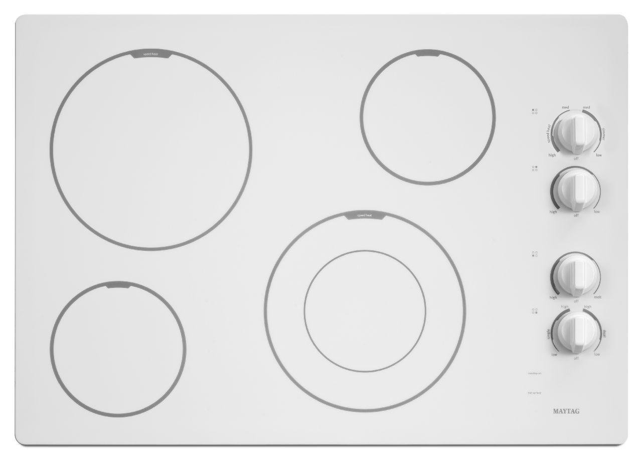 Maytag Electric Cooktops 30-inch Electric Cooktop - Item Number: MEC7430BW