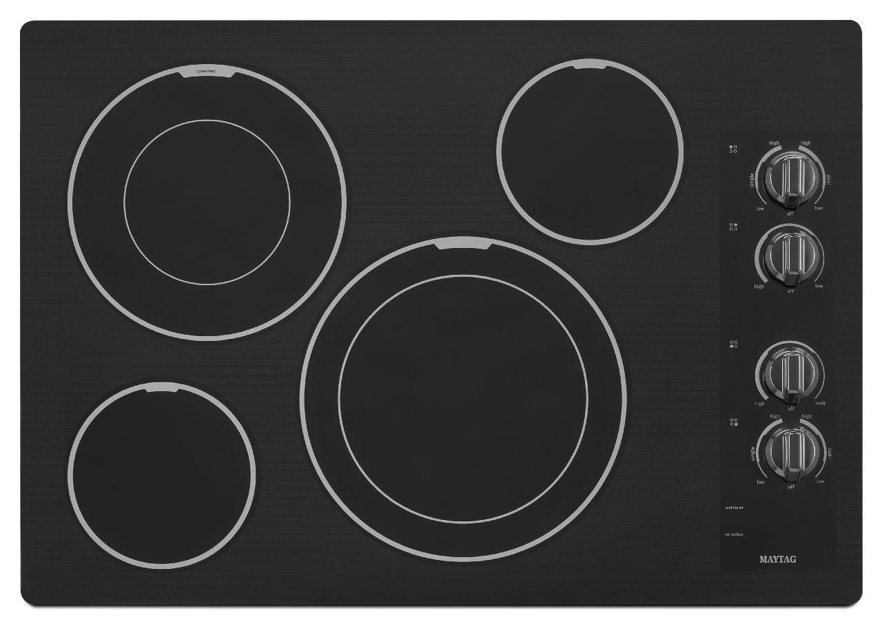 Maytag Electric Cooktops 30-inch Electric Cooktop - Item Number: MEC9530BB
