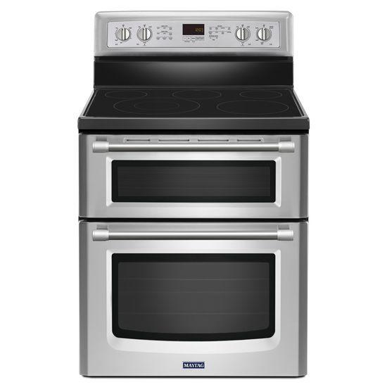 Maytag Electric Ranges Double Oven Electric Stove - Item Number: MET8720DS