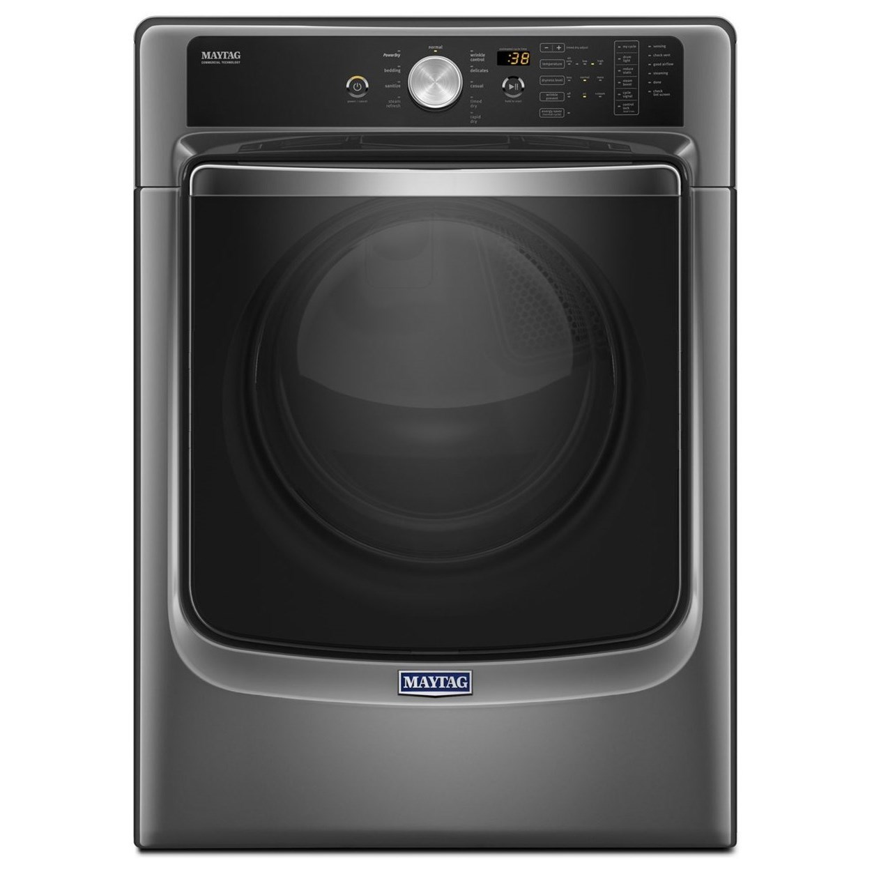 Maytag Front Load Gas Dryer 8200 Series 7.4 Cu. Ft Large Capacity Dryer - Item Number: MGD8200FC