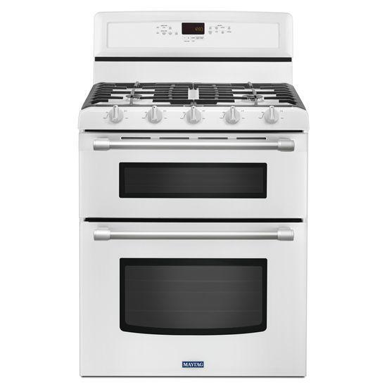 Maytag Gas Ranges Gemini® Double Oven Gas Stove - Item Number: MGT8720DH