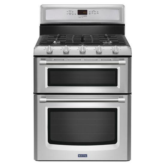 Maytag Gas Ranges Gemini® Double Oven Gas Stove - Item Number: MGT8720DS