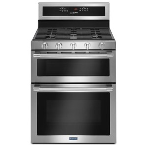 "Maytag Gas Ranges 6.0 Cu. Ft. 30"" Wide Double Oven Gas Range"