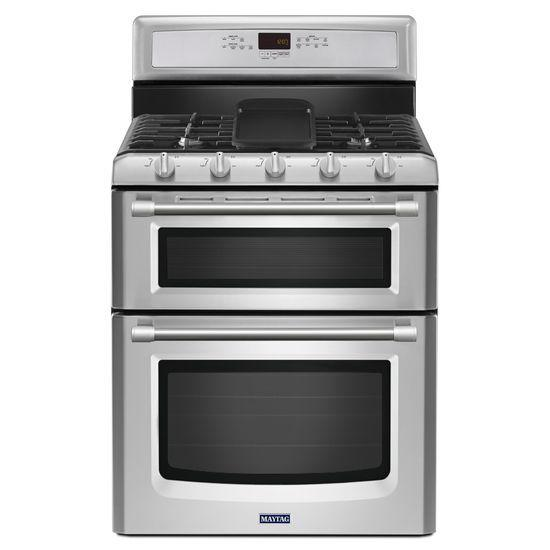 Maytag Gas Ranges Gemini® Double Oven Gas Stove - Item Number: MGT8820DS