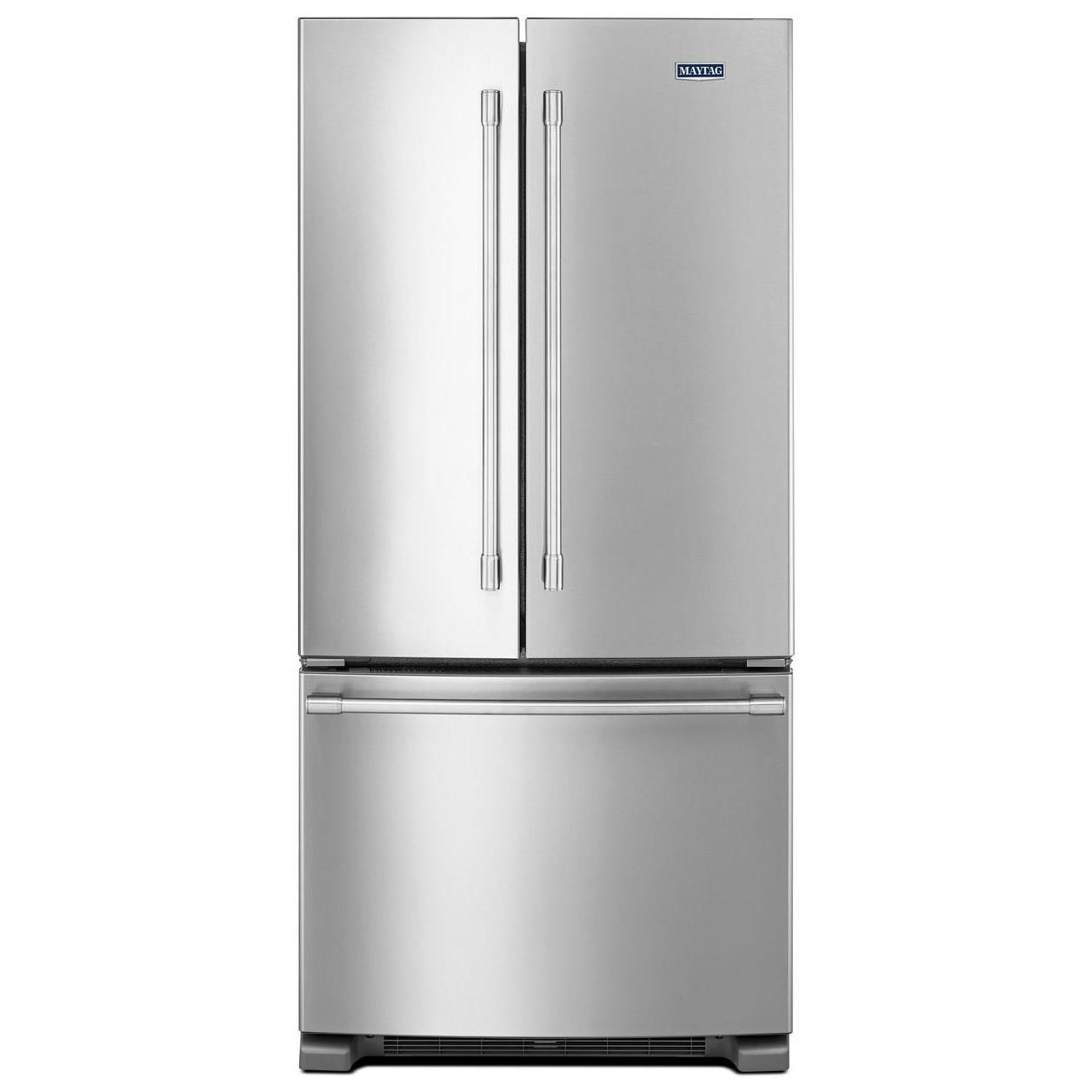 Maytag Mff2258fez33 Inch Wide French Door Refrigerator 22 Cu Ft