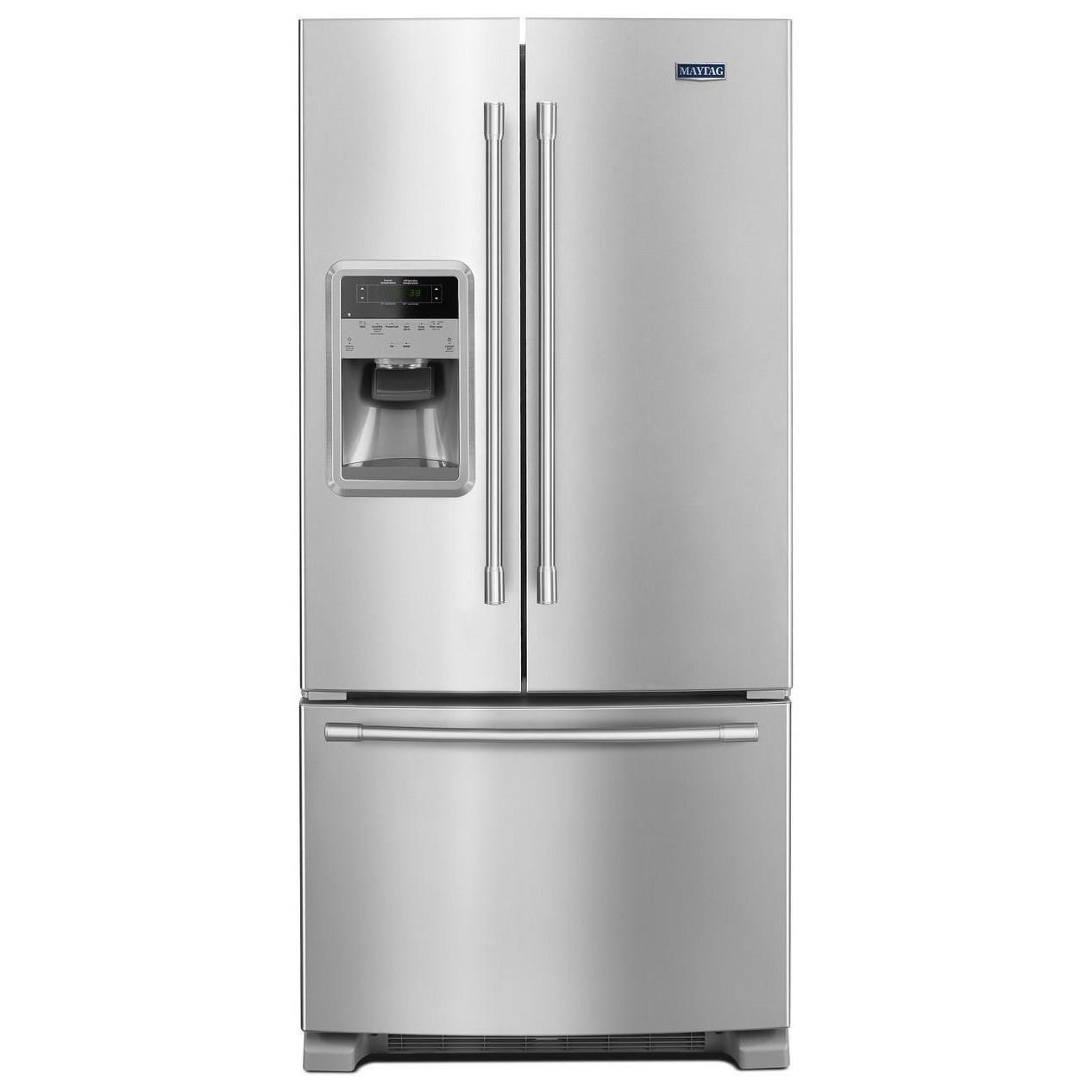 """Maytag Maytag French Door Refrigerators 33"""" 22 Cu. Ft. French Door Refrigerator - Item Number: MFI2269FRZ"""