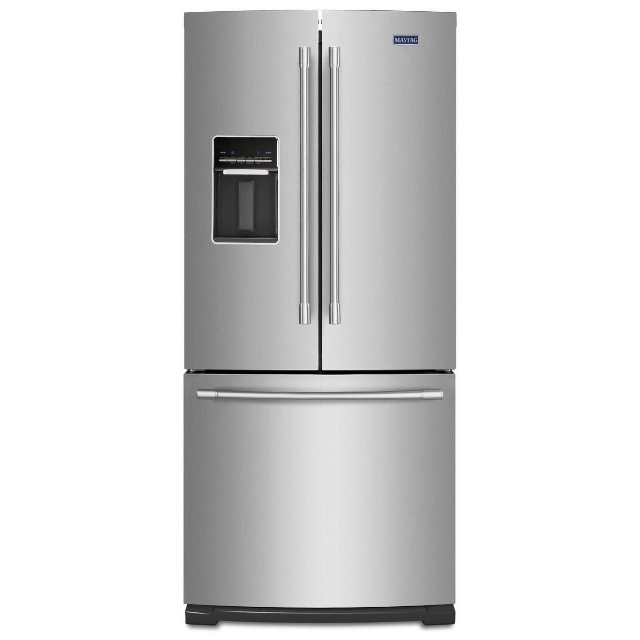 """Maytag Maytag French Door Refrigerators 30"""" 20 Cu. Ft. French Door Refrigerator - Item Number: MFW2055FRZ"""
