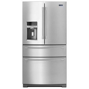 "Maytag Maytag French Door Refrigerators 36"" 26 Cu Ft 4-Door French Door Refrigerator"