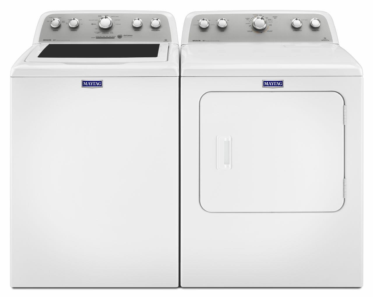 Maytag Washer and Dryer Sets Top Load Washer and Electric Dryer - Item Number: MVWX655DW+MEDX655DW