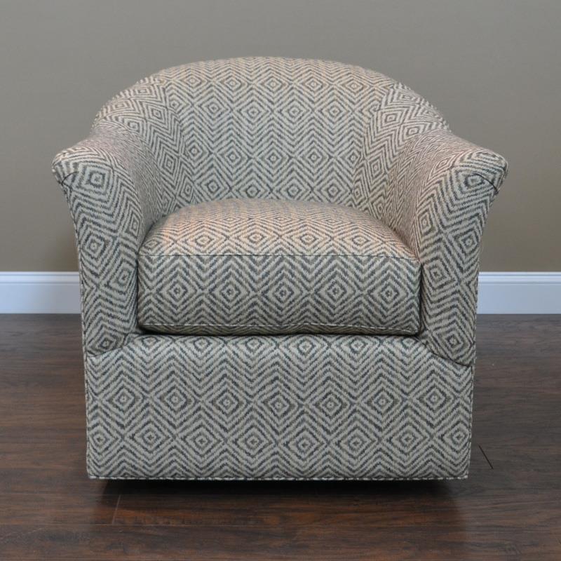 BeModern 0211 Swivel Glider Chair - Item Number: 0211-CMB-Warner Mineral