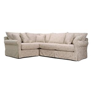 McCreary Modern 0281 Stationary Slipcover Sectional with Left-Arm-Facing Chair